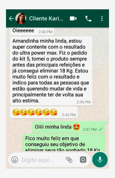 depoimento da carolina sobre o ultra power max