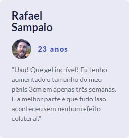depoimento do rafael sobre o super gel volumão
